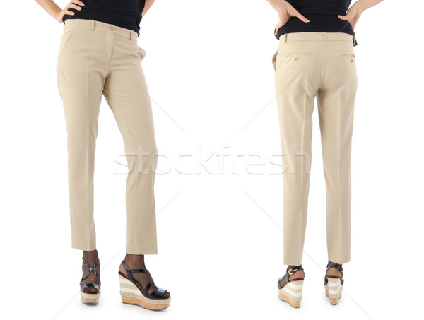 Trousers on the model isolated Stock photo © Elnur