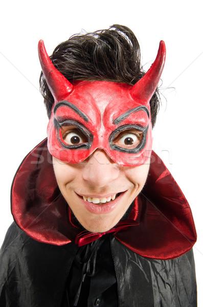 смешные дьявол изолированный белый улыбка Sexy Сток-фото © Elnur