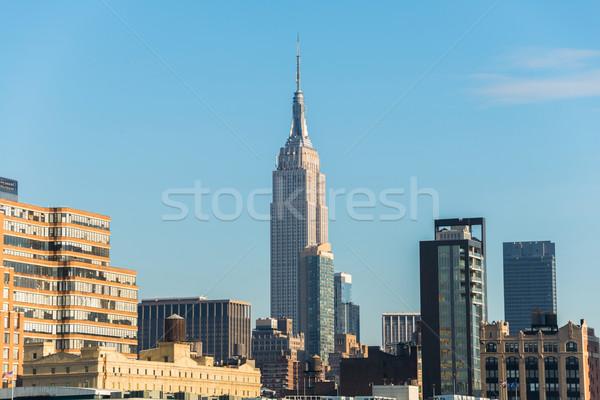 Panorama Innenstadt manhattan Business Büro Stadt Stock foto © Elnur