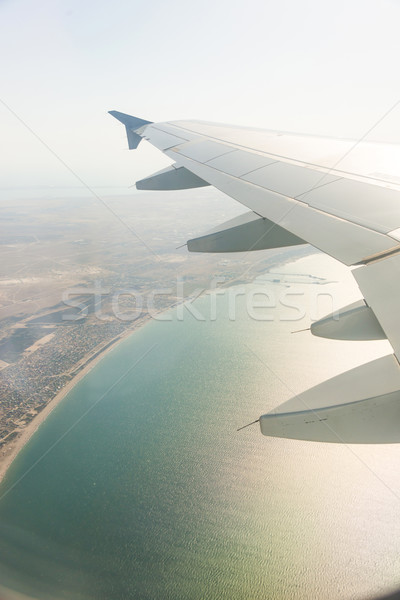 Repülőgép szárny ki ablak technológia kék Stock fotó © Elnur