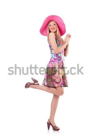 Stock photo: Young woman in fashion concept