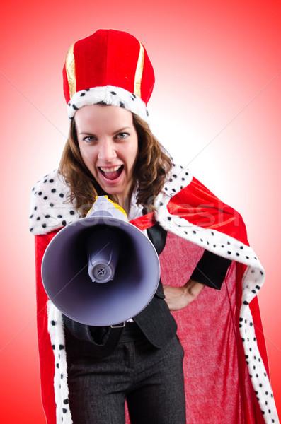 Vrouw koningin grappig business werk zakenman Stockfoto © Elnur