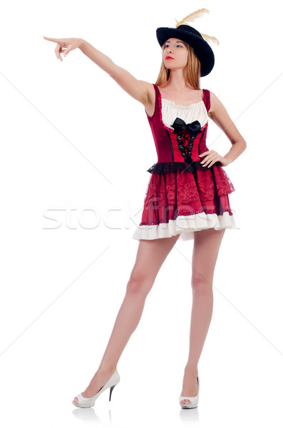 Woman pirate isolated on the white background Stock photo © Elnur