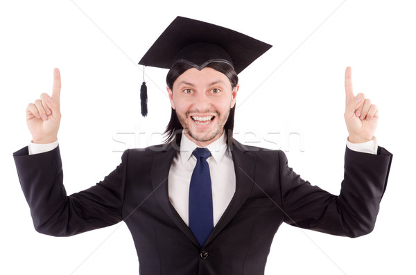 Young student isolated on the white Stock photo © Elnur