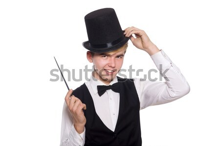 Jóvenes elegante hombre pistola aislado Foto stock © Elnur