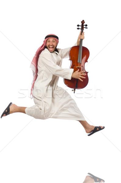Arab man playing musical instrument Stock photo © Elnur