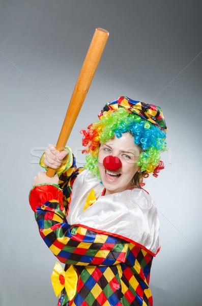 Palyaço beysbol sopası komik parti beysbol takım elbise Stok fotoğraf © Elnur