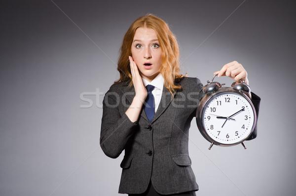 女性実業家 クロック 遅い 女性 作業 ビジネスマン ストックフォト © Elnur