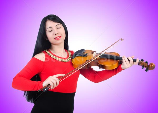 Jovem violino branco fundo arte concerto Foto stock © Elnur