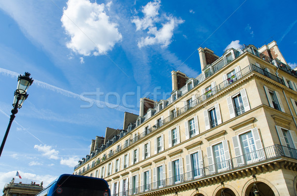 Typisch algemeen huizen Parijs Frankrijk hemel Stockfoto © Elnur