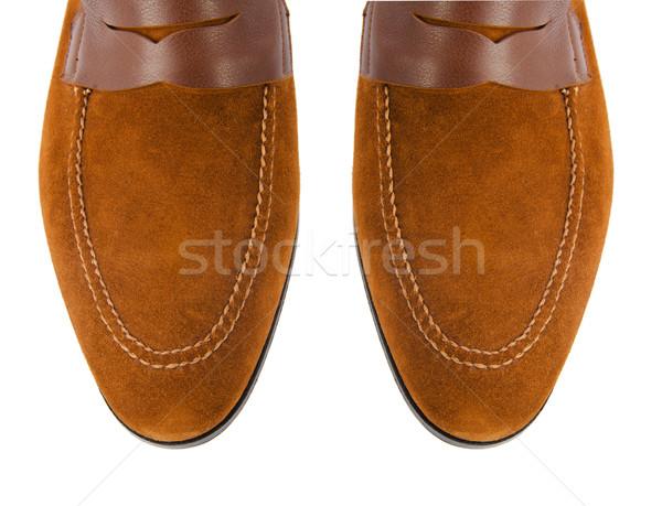 Borravaló férfi cipők izolált fehér divat Stock fotó © Elnur