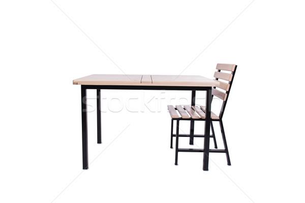 Stockfoto: Ingesteld · keuken · meubels · geïsoleerd · witte · business