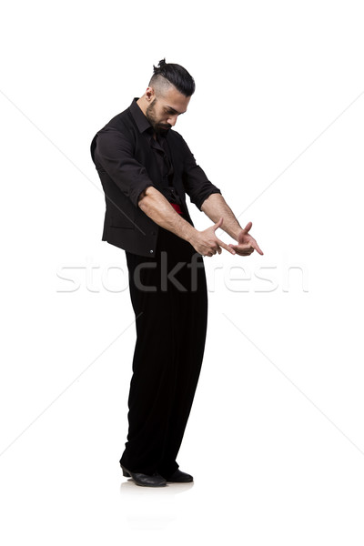 Man dancer dancing spanish dances isolated on white Stock photo © Elnur
