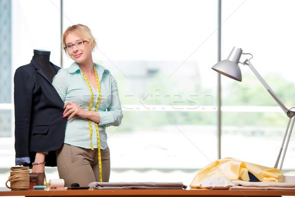 Kobieta krawiec pracy nowego odzież moda Zdjęcia stock © Elnur