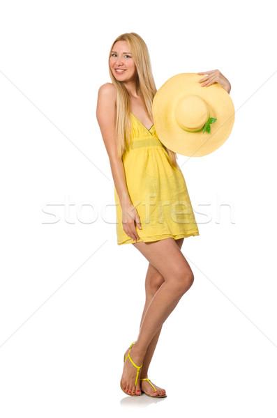Kafkas adil model sarı yaz elbise Stok fotoğraf © Elnur