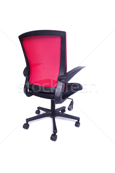 Red office chair isolated on the white background Stock photo © Elnur