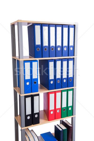 Many binder folders on the shelf Stock photo © Elnur