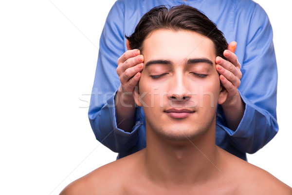 Man during massage session isolated on white Stock photo © Elnur