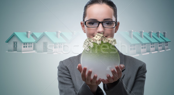 Businesswoman in housing mortgage concept Stock photo © Elnur