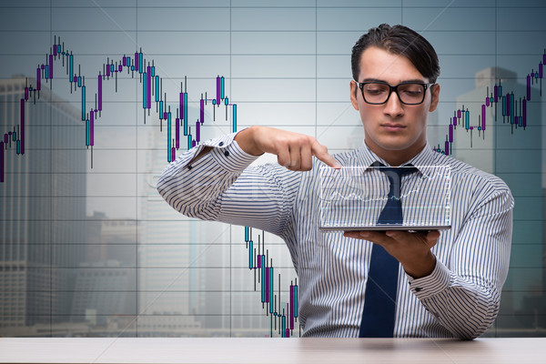 Fiatal üzletember online kereskedés pénz internet Stock fotó © Elnur
