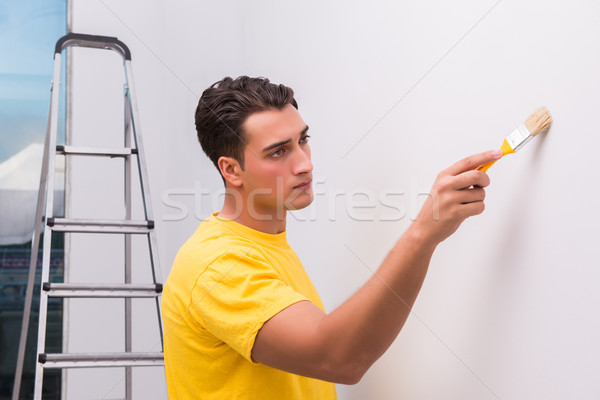 Man painting house in DIY concept Stock photo © Elnur