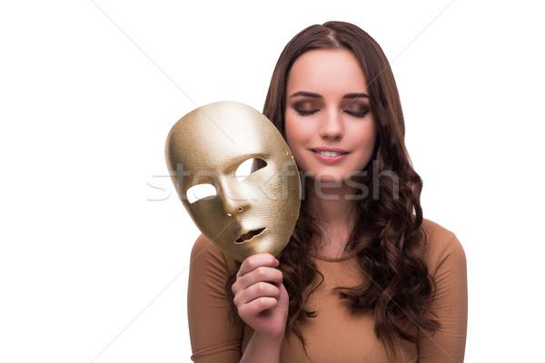 若い女性 マスク 孤立した 白 顔 ファッション ストックフォト © Elnur