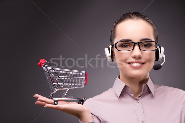 Woman in online shopping concept Stock photo © Elnur