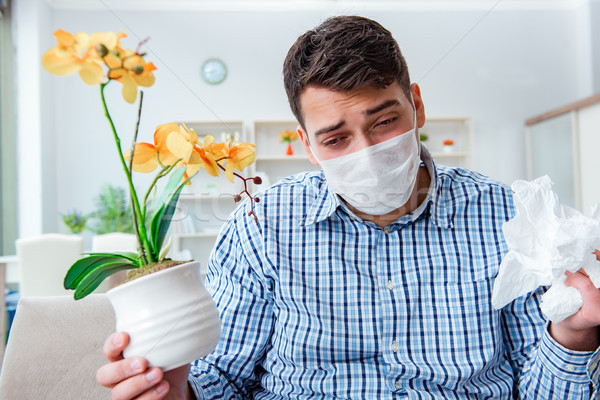 The man suffering from allergy - medical concept Stock photo © Elnur