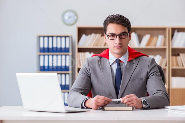 Superhero бизнесмен рабочих служба работу домой Сток-фото © Elnur