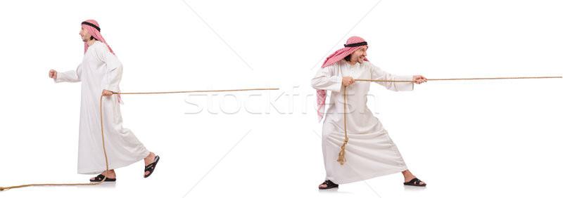 Arab háború fehér üzlet munka háttér Stock fotó © Elnur