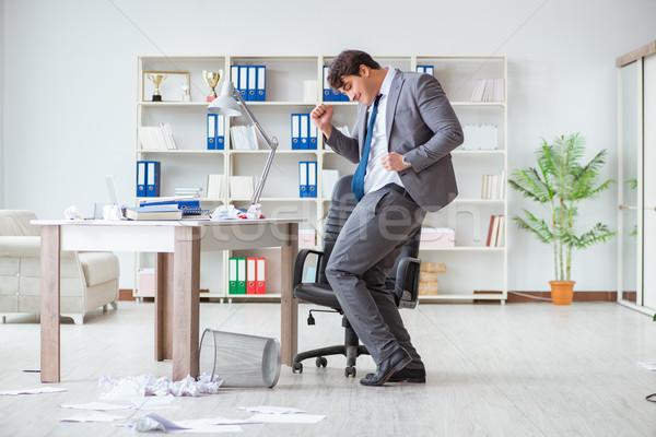 üzletember szórakozás elvesz törik irodai munka üzlet Stock fotó © Elnur