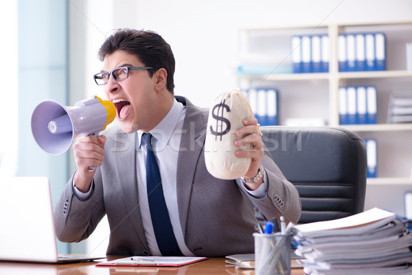 Angry aggressive businessman in the office Stock photo © Elnur