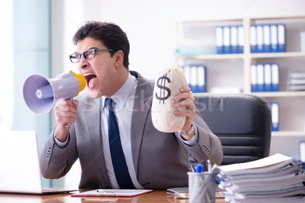 öfkeli agresif işadamı ofis bilgisayar adam Stok fotoğraf © Elnur