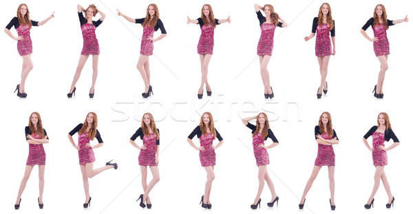 Young woman in fashion concept on white Stock photo © Elnur