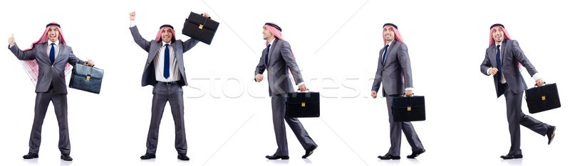 Set of photos with arab businessman Stock photo © Elnur
