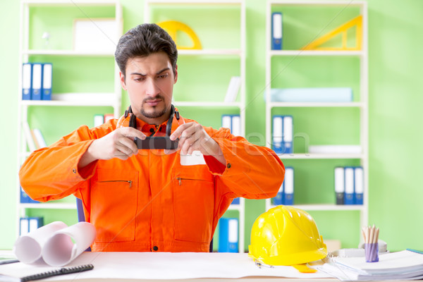 строительство руководитель планирования новых проект служба Сток-фото © Elnur