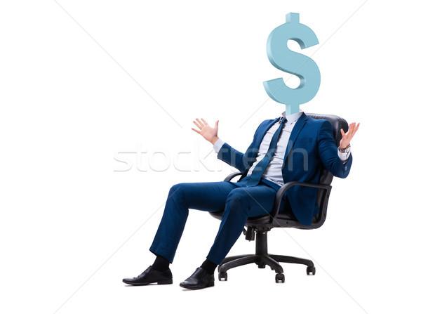 Işadamı dolar işareti kafa para arka plan finanse Stok fotoğraf © Elnur