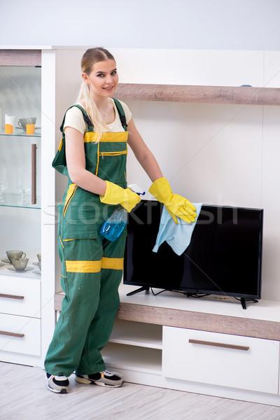 профессиональных чистого очистки квартиру мебель женщину Сток-фото © Elnur