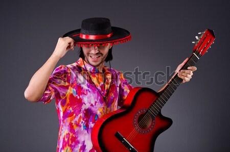 Człowiek studio taniec hiszpanski dance czerwony Zdjęcia stock © Elnur