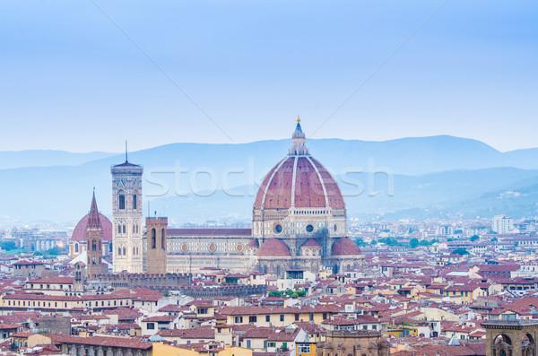 Florence cityscape crepúsculo céu pôr do sol igreja Foto stock © Elnur