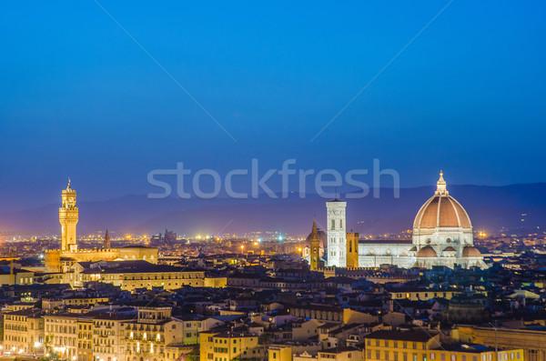 Nice мнение Флоренция вечер небе закат Сток-фото © Elnur