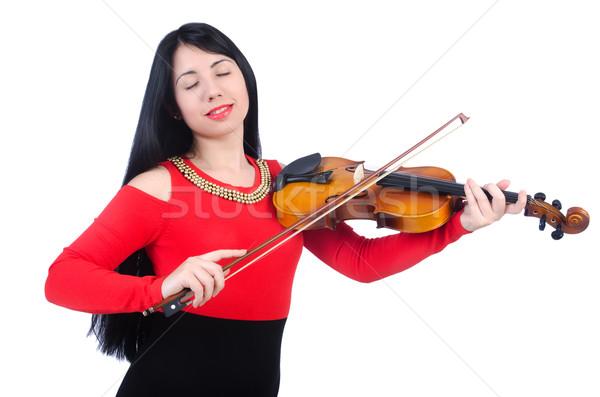 若い女の子 バイオリン 白 女性 コンサート サウンド ストックフォト © Elnur