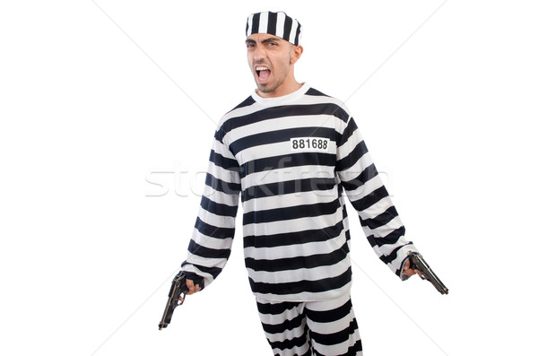 Prisioneiro pistola isolado branco lei polícia Foto stock © Elnur
