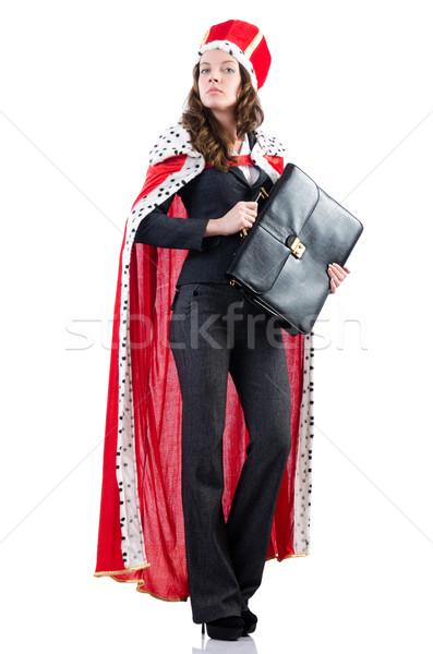 Rainha empresária isolado branco trabalhar empresário Foto stock © Elnur