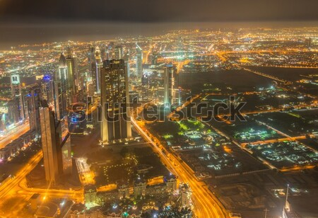 Dubai building at night illumination Stock photo © Elnur