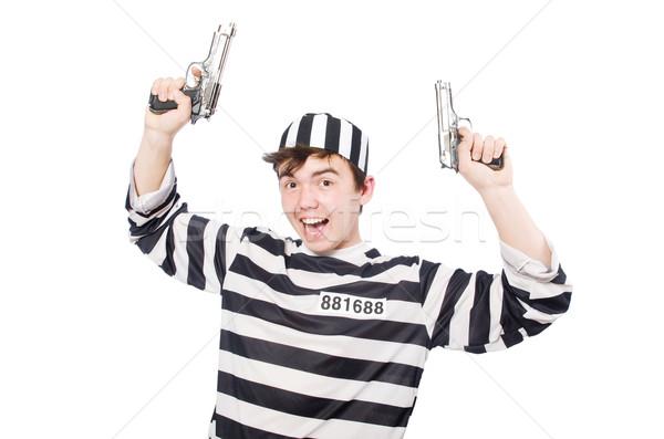 Grappig gevangenis bewoner hand politie zelfmoord Stockfoto © Elnur