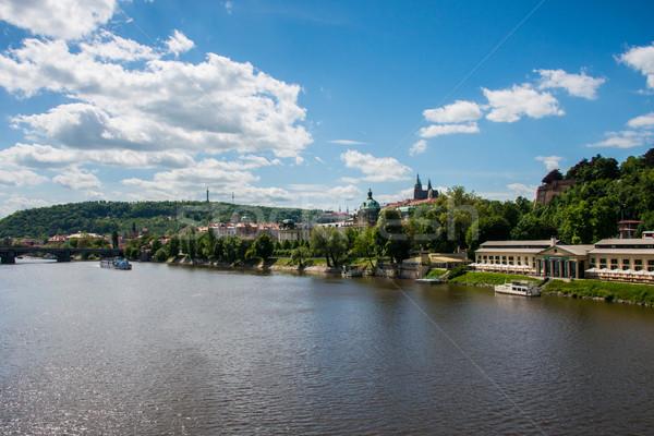 Stock photo: View of Vltava river in Prague