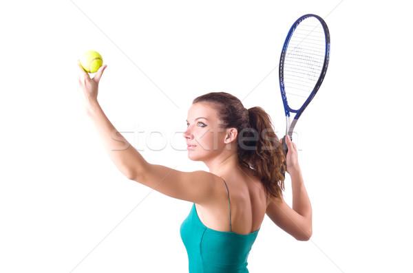 Woman tennis player isolated on white Stock photo © Elnur