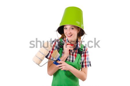 Donna indossare santo Hat ragazza sfondo Foto d'archivio © Elnur