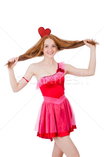 довольно молодые модель мини розовый платье Сток-фото © Elnur